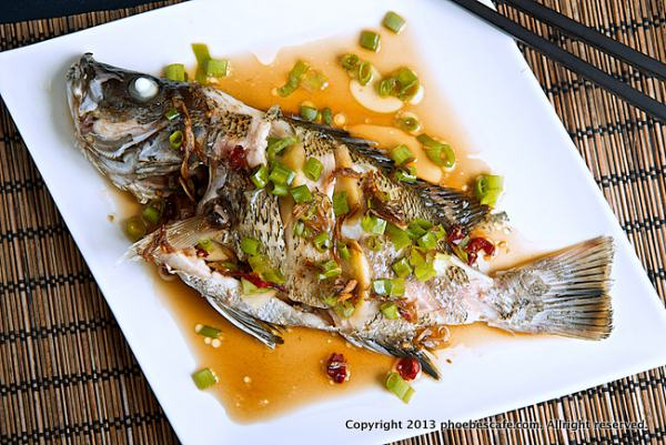 Chinese steamed fish, simply delicious