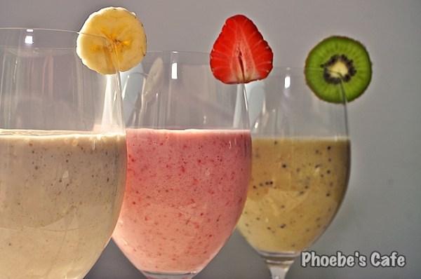 아침 식사로 마셔요, 과일 스무디 3종